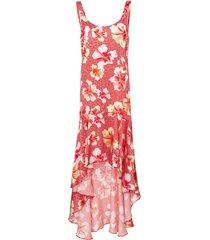 onia martine hibiscus-print silk dress - red