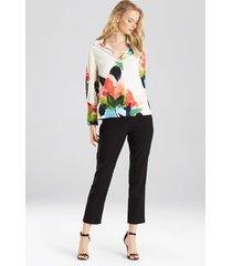 natori blossom blouse, women's, pink, size xl natori