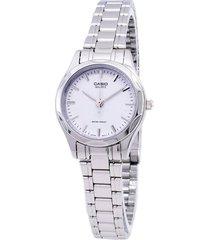 reloj casio ltp-1275d-7a para dama dorado -blanco
