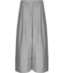 spodnie grey wool pants