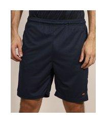 bermuda masculina esportiva ace com recorte lateral azul marinho