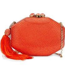 rafe women's sofia octagon clutch - orange