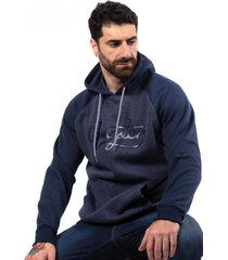 hoodie plus canguro cord azul gangster