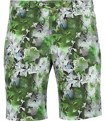 floral cotton bermuda shorts
