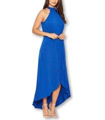 ax paris women's cobalt high neck maxi dress