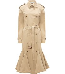jw anderson cape detail trench coat - neutrals