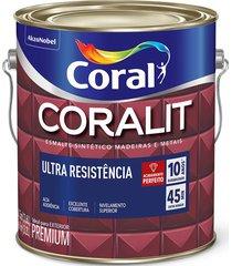 tinta coral esmalte coralit, alto brilho, creme, galão 3,6 litros