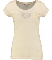 broadway t-shirt met kant peach