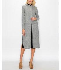 women's cozy hoodie wrap duster
