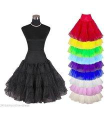 new short tutu vintage petticoat crinoline underskirt wedding dress skirt slips