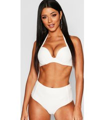 mix & match push up underwired moulded top, cream