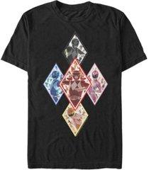 fifth sun men's power rangers diamond team short sleeve t-shirt
