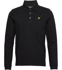 ls polo shirt polos long-sleeved svart lyle & scott