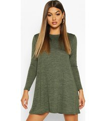 knitted swing dress, olive