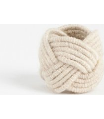 saro lifestyle braided jute napkin ring, set of 4