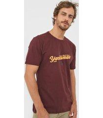 camiseta yachtsman atlantic regatta vinho - vinho - masculino - algodã£o - dafiti