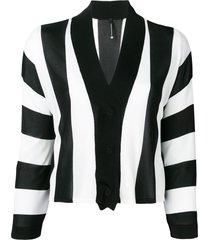 pierantoniogaspari vertical striped cardigan - black