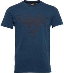 dry goods tee t-shirts short-sleeved blå superdry