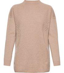 aurora wool pullover stickad tröja beige wolford