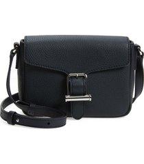 boss kristin leather crossbody bag - blue