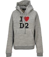 dsquared2 i love d2 print hoodie