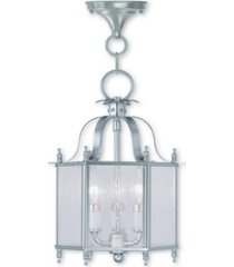 "livex livingston 3-light 13.75"" convertible mini pendant/ceiling mount"