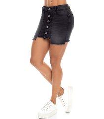 falda corta con botones ajustada mujer - saramanta classic