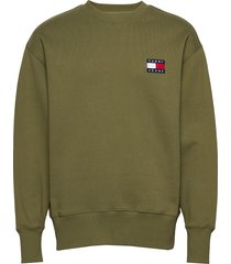 tjm tommy badge crew sweat-shirt trui tommy jeans
