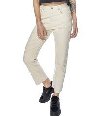 jeans straight beige mujer corona