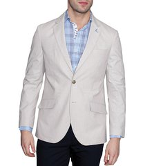 tailorbyrd men's pascal textured standard-fit jacket - tan - size 38 r