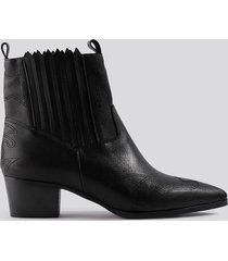 na-kd shoes low western boots - black