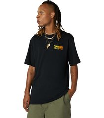 camiseta de manga corta converse art black