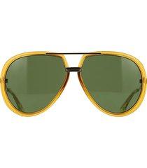 gucci gucci gg0904s yellow sunglasses