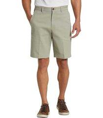 joseph abboud men's faded sage modern fit shorts - size: 36w