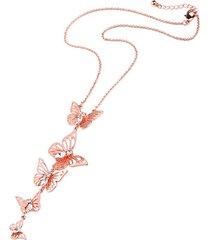elegante ciondolo farfalla clavicola collane donna cristallo accessori abbigliamento costumi gioielli