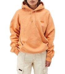 women's bdg urban outfitters longline hoodie, size x-small - orange
