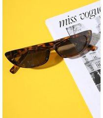 gafas de sol retro de leopardo marrón