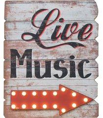 placa decorativa com led live music