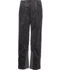 corduroy pantalon met rechte pijpen grijs ganni