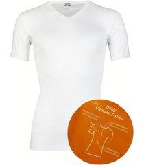 beeren body climate t-shirt v - hals-m-wit
