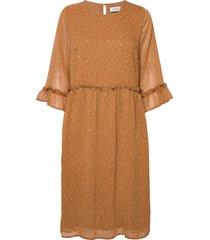 costa print dress knälång klänning brun modström