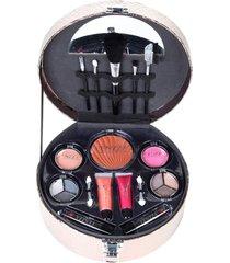 maleta de maquiagem fenzza fz40005 make up chic collection bronze - bronze - feminino - dafiti