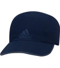 boné aba curva adidas runner mesh aeroready - strapback - adulto - azul escuro