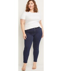 lane bryant women's deluxe fit skinny jean - ink dark wash 28 x long dark denim