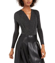kit & sky metallic-knit bodysuit