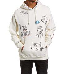 men's altru be kind men's hooded sweatshirt, size small - white