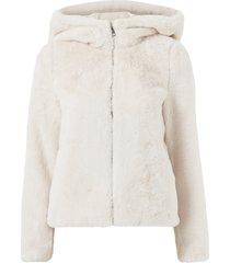 fuskpäls vmthea hoody short faux fur jacket