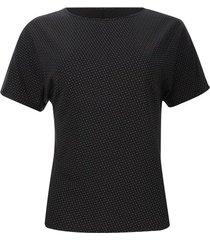 camiseta mujer círculos y estrellas color negro, talla s