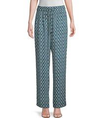 elie tahari women's zuma floral-print pants - amalfi multicolor - size xs