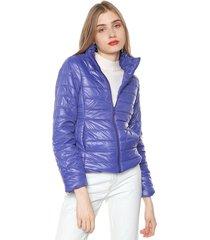 chaqueta azul royal active